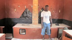 Finished kitchen - cooking stoves and chimney