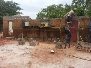 work starts on rebuilding the classroom block