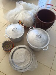 mosquito nets, pots & other gifts