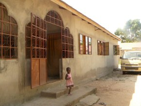 The outside of Wandifa's new house