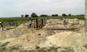 Foundations for new classroom block