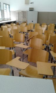 new chairs at Gambia College