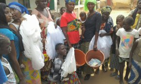 mosquito nets and buckets for families
