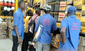 Modou and the Pageant team discuss what to buy