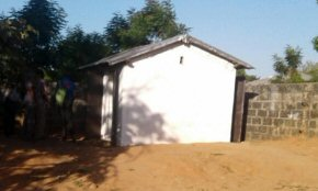 new toilet and shower block at Albreda