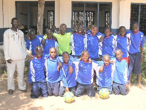 Campama LBS boys team in their football kit