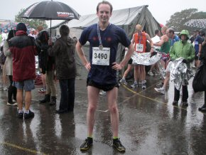 Gavin after completing the 2012 New Forest Half Marathon