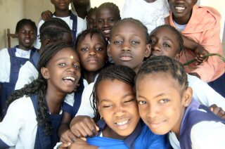 Gambian school children