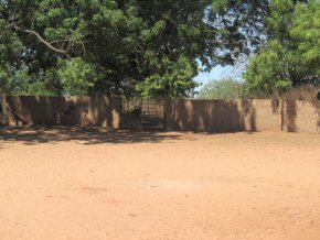 new wall around the school compound