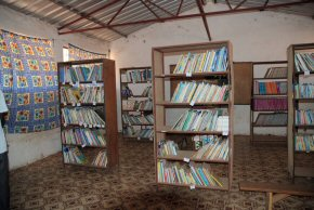 donated shelving in Kanikunda LBS library