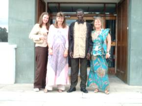 Frances, Pippa, Bakary and Carole outside ERA