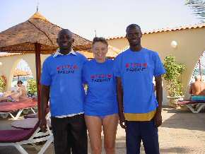 Kemo, Pippa and Wandifa in Pageant T-shirts