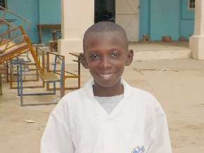newly sponsored student, Modou
