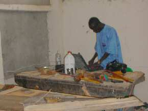 Baba Suwaki in new woodwork facility
