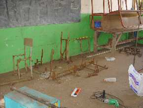 woodwork and  metalwork classroom at St Augustine's