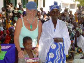 Pippa with a sponsored child and her granny