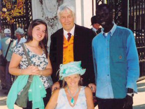Omar with Frances, Ian and Pippa at Buckingham Palace