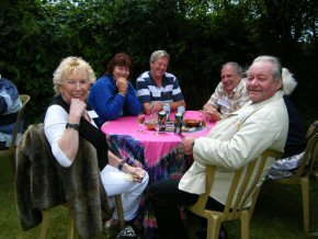 The Henfield Lions: Peter (front right) his wife Brenda (front left) with Dave & Sandra and Roy & Iris
