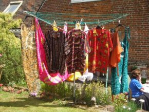 colourful Gambian garments