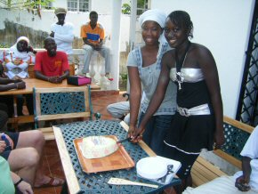 Fatou and Amie's birthday party