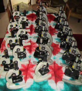 20 microscopes donated by Tyne Metropolitan College