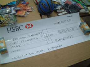 cheque for £1000