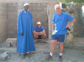 Tim & Nick checking the new toilets at Saloum