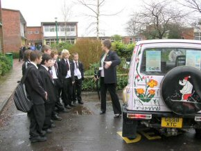 Chris Edwards, Head of Ringwood School, explains about the drive