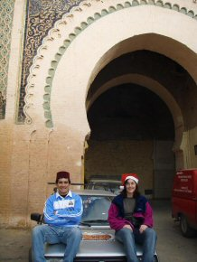 Guillermo and Clare in Meknes