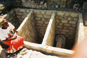 the underground chambers for the toilets nearly finished 2