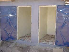 the finished toilets