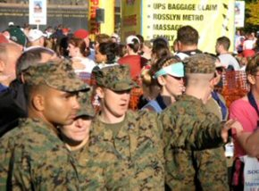 the Marines who looked after Sarah and the other runners