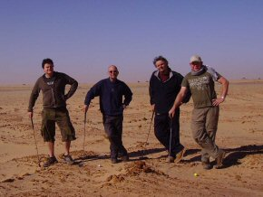 Game of golf in possibly the world's biggest bunker - the Sahara, Mauritania