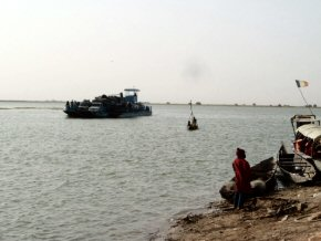 Ferry across the Niger from Timbuktu