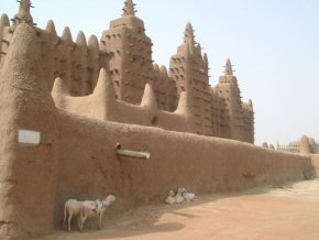 World's largest mud building. The Mosque at Djenne