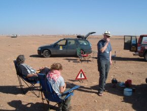 Picnic. Somewhere in Western Sahara
