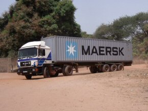 a container arrives at a school compound