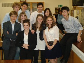 students from Oakham at the conference in January
