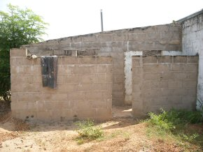 the existing toilets - outside