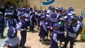 Unity Nursery children dressed up for the celebration parade