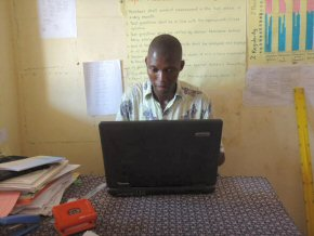 Head Teacher Amadou Jallow in his office