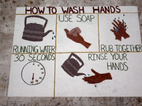 health murals - washing hands